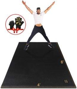 Gxmmat Large Shoe Friendly Exercise Mat