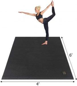 Gxmmat Large Yoga Mat, best exercise mat to protect carpet